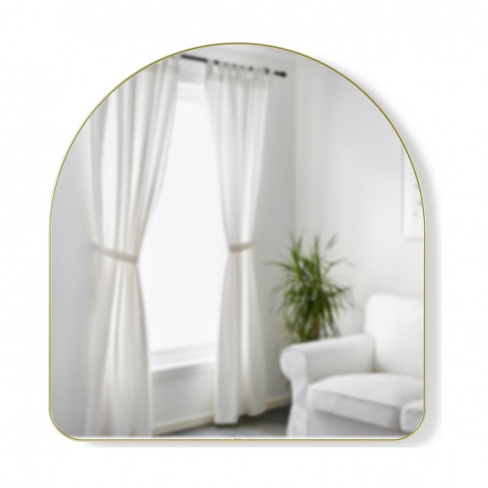 Зеркало настенное Hubba, 86х91 см,  латунь